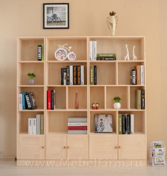 Книжный шкаф твердой древесины книжные шкафы свободное сочет.