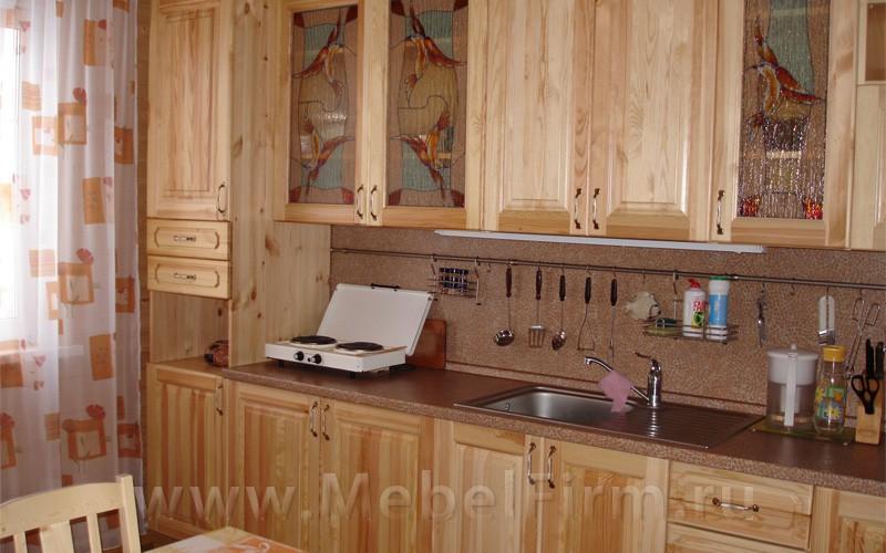Кухня из дерева на даче своими руками фото